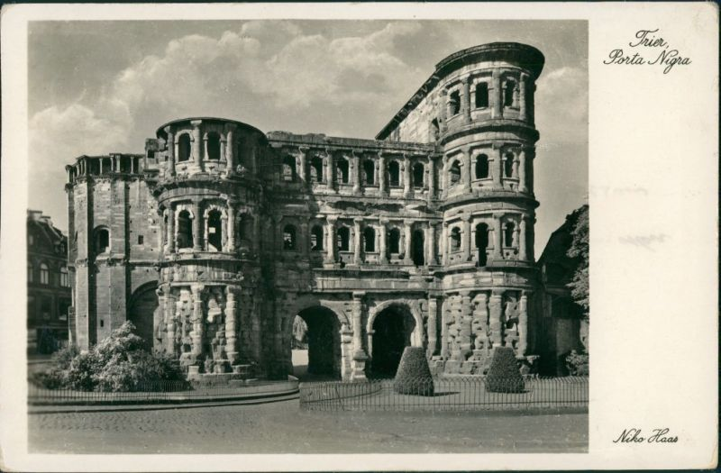 Trier Porta Nigra, Römisches Stadttor, historisches Bauwerk 1940