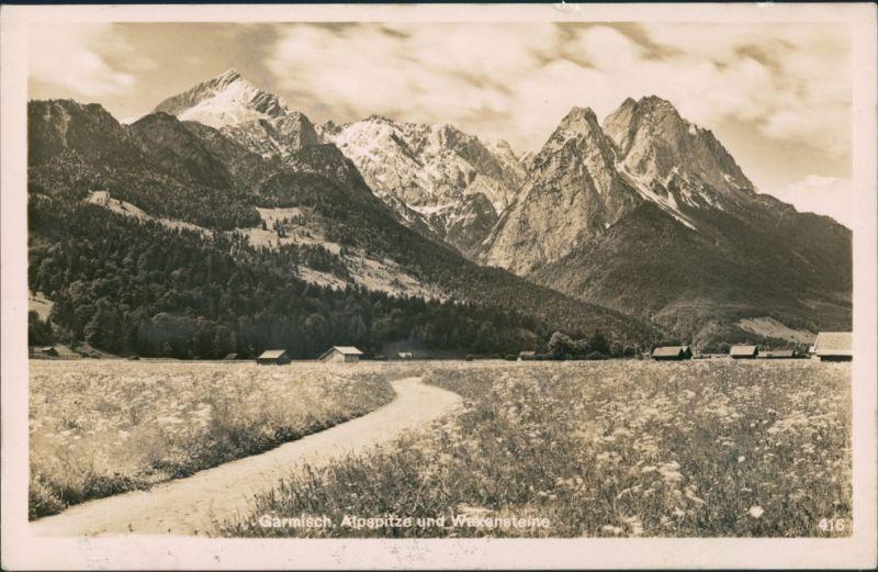 Garmisch-Garmisch-Partenkirchen Garmisch, Alpsitze, Waxenstein, Alpen-Berge 1941