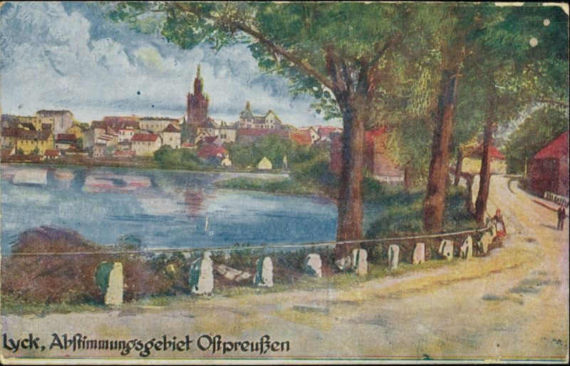 Postcard Lyck Ełk Abstimmungsgebiet - Stadt 1919
