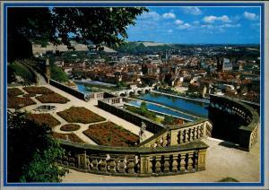 Ansichtskarte Würzburg Festung Marienberg - Blick auf die Stadt 2000
