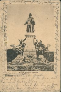 Ansichtskarte Holtenau-Kiel Holtenå Kaiser Wilhelm Denkmal 1903