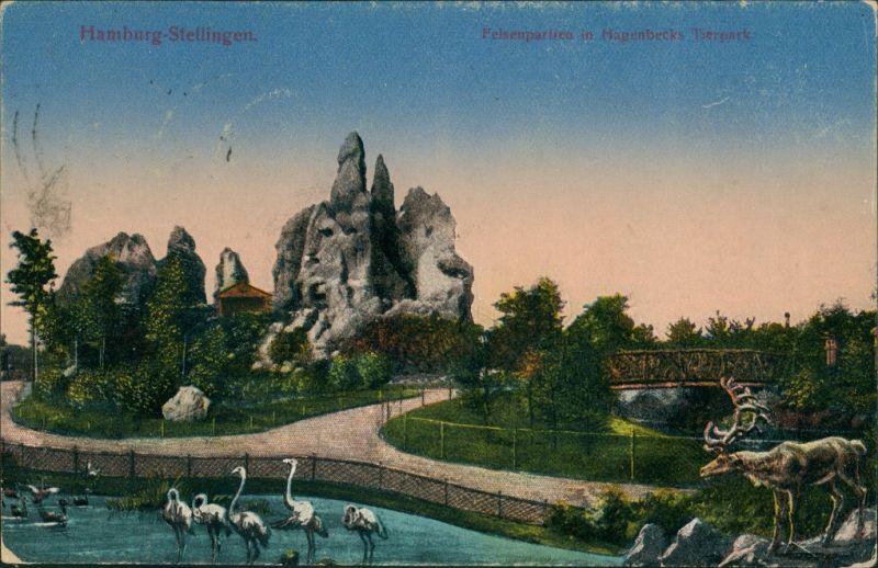 Stellingen-Hamburg Tierpark Hagenbeck Felsen Partie, Zoo, Tiere 1923