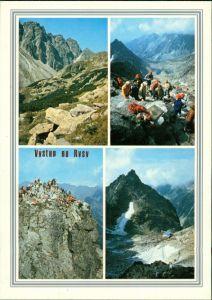 Postcard Vysoké Tatry VYSOKÉ TATRY Rysy Bergsteiger 1990