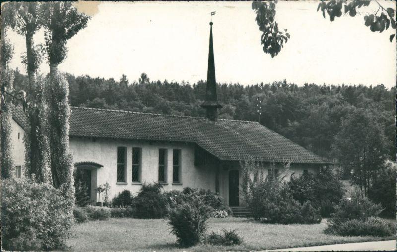Ansichtskarte Koblenz AG Partie an der Kirche, bepflanzter Vorgarten 1960