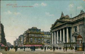 Brüssel Bruxelles La Bourse et le Boulevard Anspach/Börse Vorplatz   1919