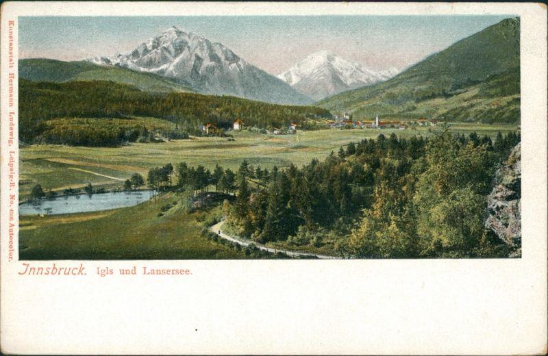 Ansichtskarte Innsbruck Panorama-Ansicht mit Igls und Lansersee 1900