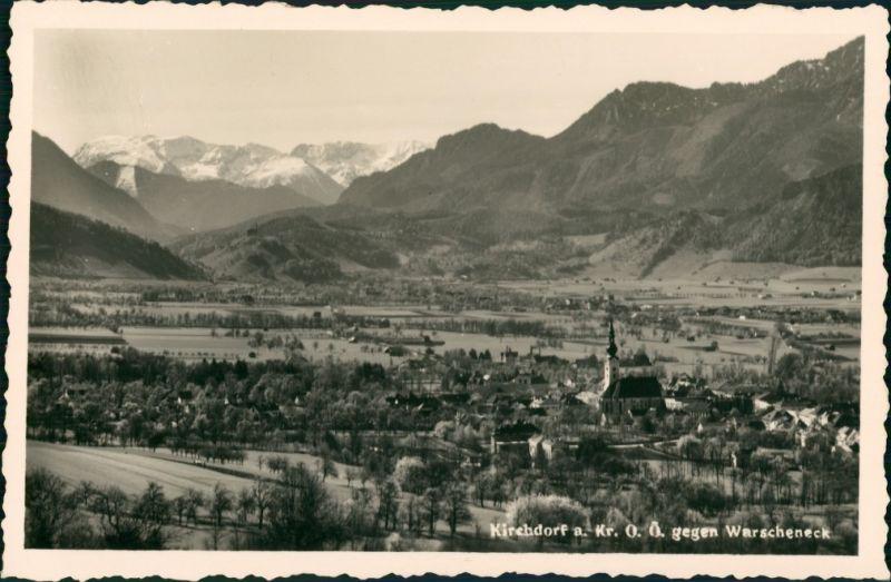 Kirchdorf an der Krems Panorama Gesamtansicht mit Alpen gg. Warscheneck 1940