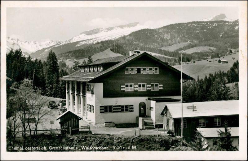 Ansichtskarte Riezlern-Mittelberg Grenzgasthof Walserschanz 1939