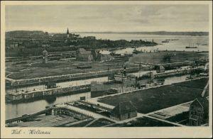 Ansichtskarte Holtenau-Kiel Holtenå Hafen, Dampfer 1938