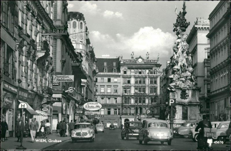 Ansichtskarte Wien Graben, Mercedes - Geschäfte 1964