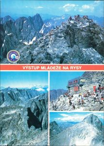 Postcard Vysoké Tatry Výstup mládeže na Rysy, VYSOKÉ TATRY 1985