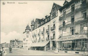 Postkaart Westende-Middelkerke Westend Hotel - Straße 1911