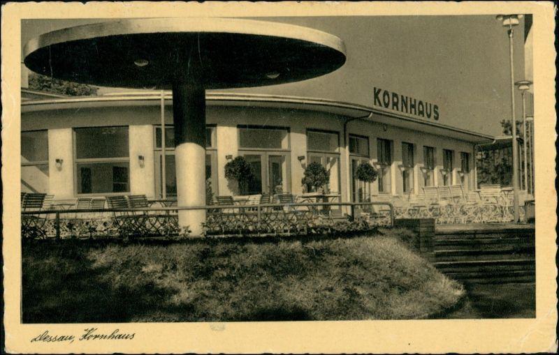 Ansichtskarte Dessau-Dessau-Roßlau Restaurant Kornhaus BAUHAUS 1938