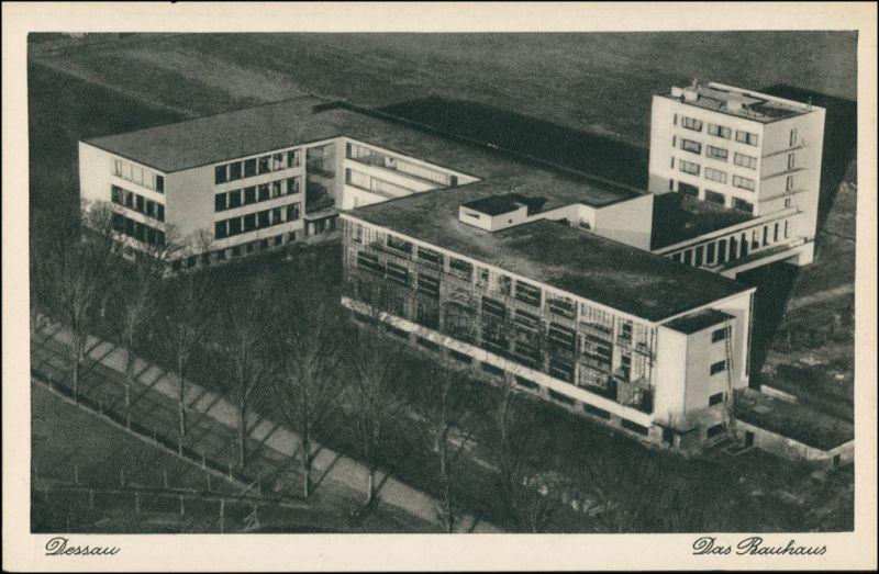 Ansichtskarte Dessau-Dessau-Roßlau Luftbild Bauhaus 1930
