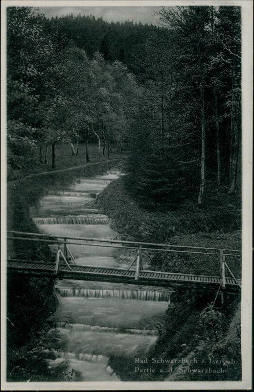 Bad Schwarzbach-Bad Flinsberg Czerniawa-Zdrój Świeradów-Zdrój Schwarzbach und Brücke 1930