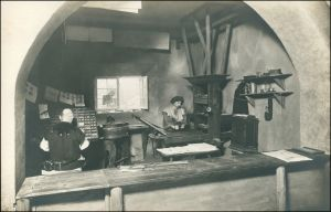 Ansichtskarte Leipzig Weltausstellung Buchgewerbe Heynsburger Mühle 1914