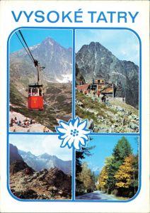 Tatralomnitz-Vysoké Tatry Tatranská Lomnica Seilbahn Skalnaté Vysoké Tatry 1984