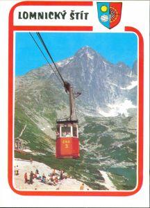 Tatralomnitz-Vysoké Tatry Tatranská Lomnica Seilbahn- Lomnický štít VYSOKÉ TATRY 1985