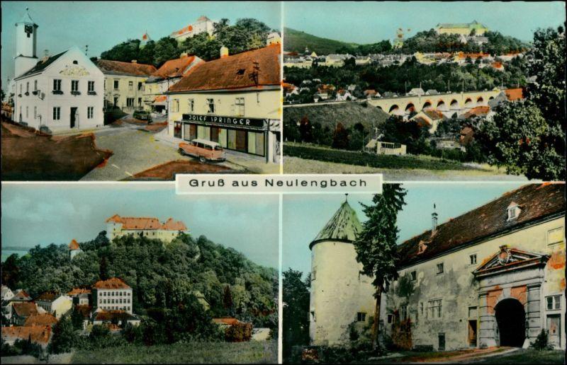 Ansichtskarte Neulengbach 4 Bild: Stadt Geschäfte 1965