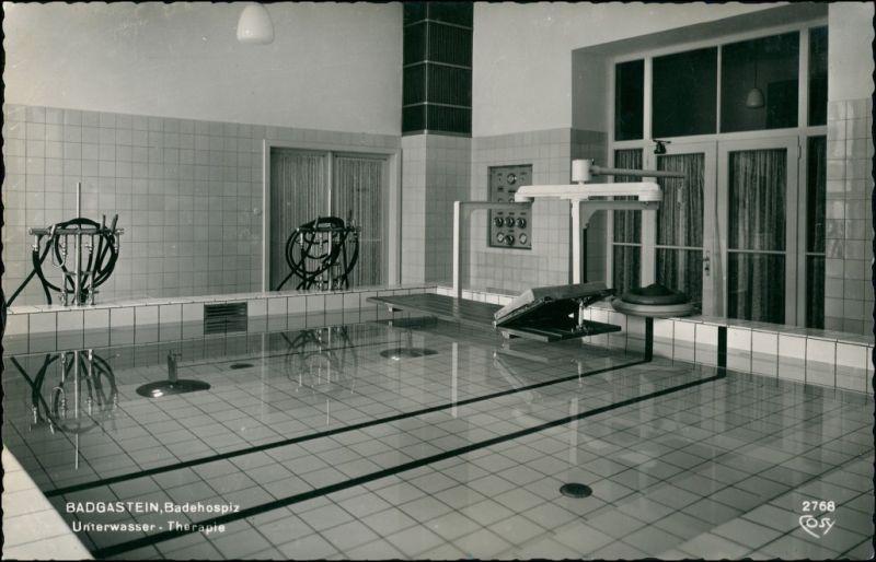 Ansichtskarte Bad Gastein Badehospiz - Unterwasser Therapie 1963