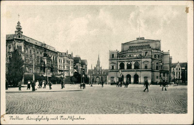 Postcard Stettin Szczecin Königsplatz 1943