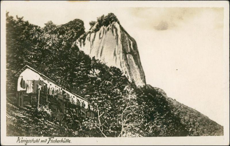 Stubbenkammer-Sassnitz Königsstuhl - Fischerhütte 1928 Privatfoto