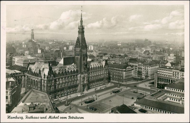 Ansichtskarte Hamburg Fernblick 1954