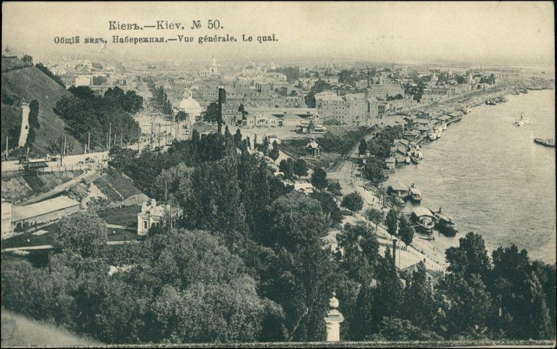 Postcard Kiew Kyjiw (Київ / Киев) Stadtblick 1906