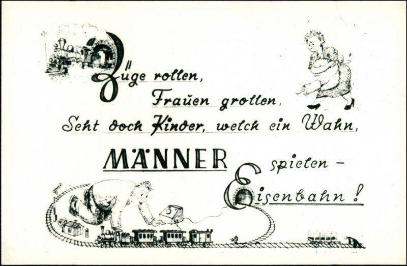 Züge rollen, Frauen grollen, Seht doch Wahn, MÄNNER spielen - Eisenbahn ! 1960