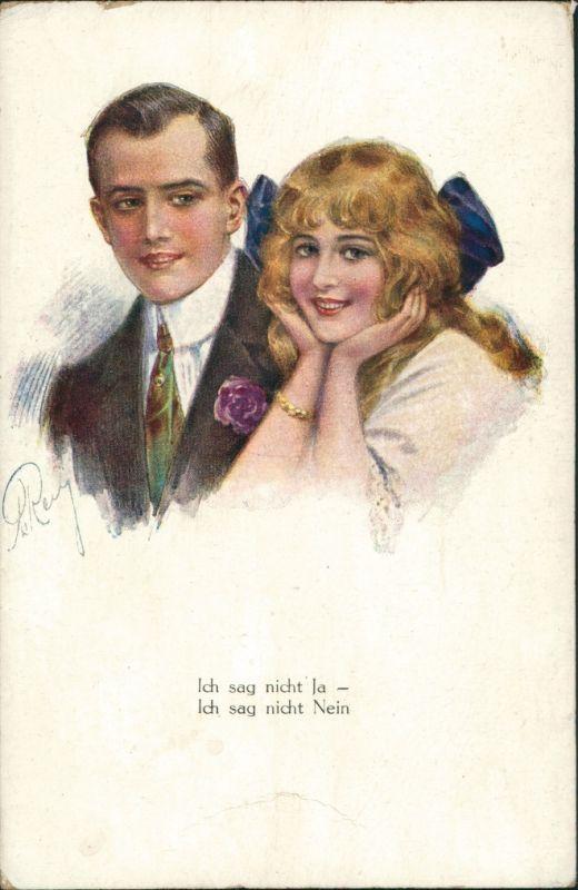 Ansichtskarte  Menschen/Soziales Leben - Liebespaare, Paar Künstlermotiv 1920