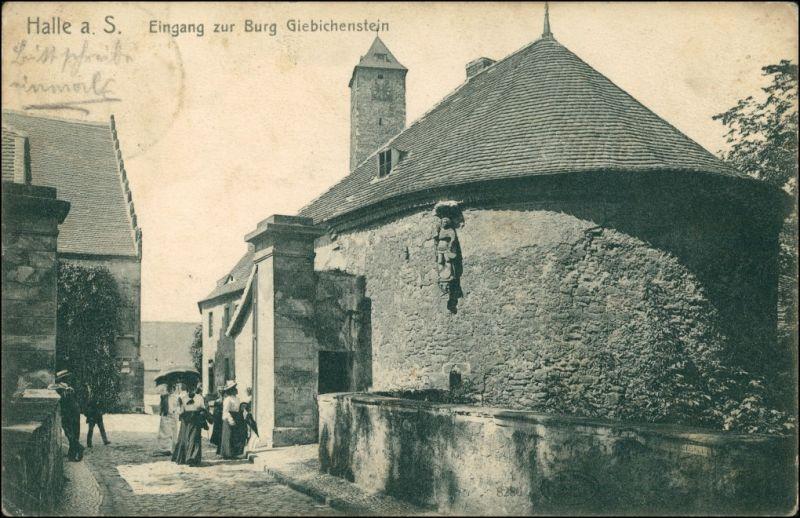 Giebichenstein-Halle (Saale) Eingang zur Burg Giebichenstein 1911