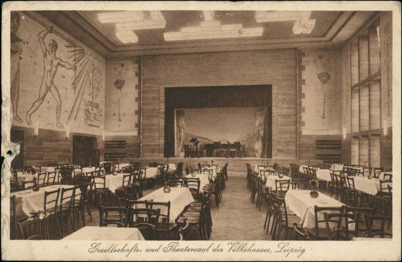 Zentrum-Süd-Leipzig Volkshaus - Theatersaal Zeitzerstrasse 32 1932