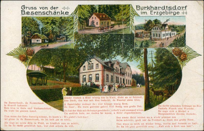 Ansichtskarte Burkhardtsdorf Besenschänke - Erzgebirge MB 1922