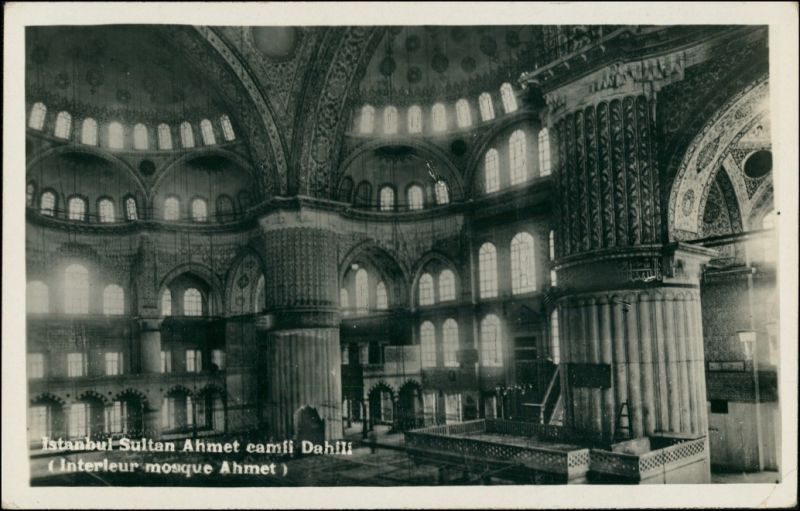 Istanbul Konstantinopel | Constantinople Sultan-Ahmed-Moschee Innen 1938