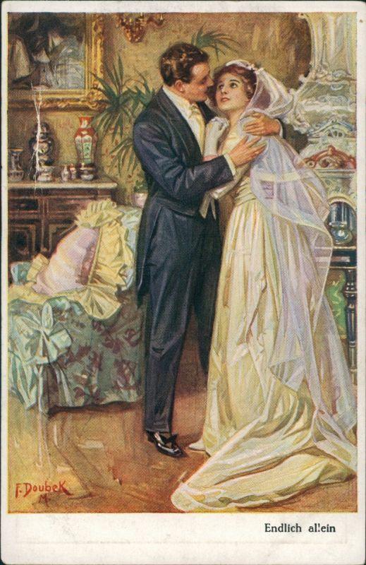 Ansichtskarte  Liebespaar