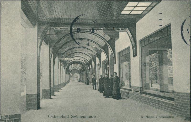 Postcard Swinemünde Świnoujście Kurhaus-Colonaden 1913