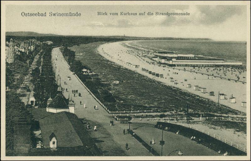 Osternothafen (Ostswine)-Swinemünde Warszów Świnoujście Strandpromenade  1929
