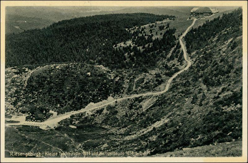 Brückenberg-Krummhübel Karpacz Górny Karpacz Kleine Teichbaude - Weg 1940