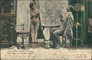 Scherzkarten: Erotik Und noch zu träumen er vermeint dem Venus  erscheint 1904