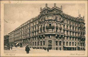 Ansichtskarte Stuttgart Hotel Marquardt 1923