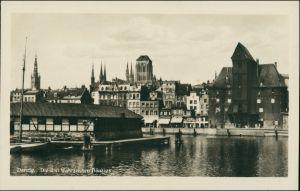 Postcard Danzig Gdańsk/Gduńsk Krantor/Krahntor, Anlagen 1930