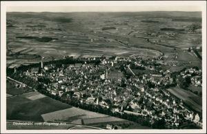 Ansichtskarte Dinkelsbühl Luftbild aus großer Höhe 1932
