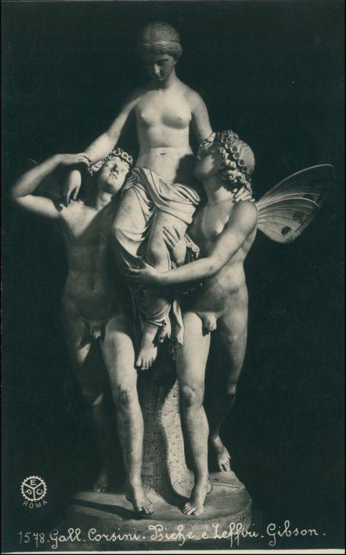 Ansichtskarte  Erotika - Junge Frau getragen von Engeln 1901