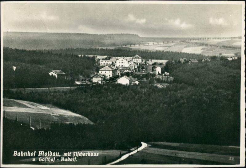 Foto Moldau Moldava Bahnhof - Gaststätte 1934 Privatfoto