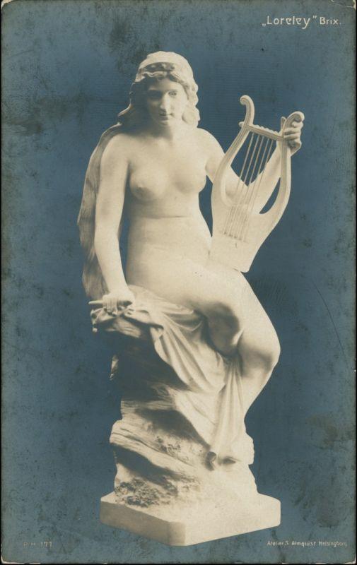 Ansichtskarte  Statue - Erotik (Nackt - Nude) Loreley Brix 1924