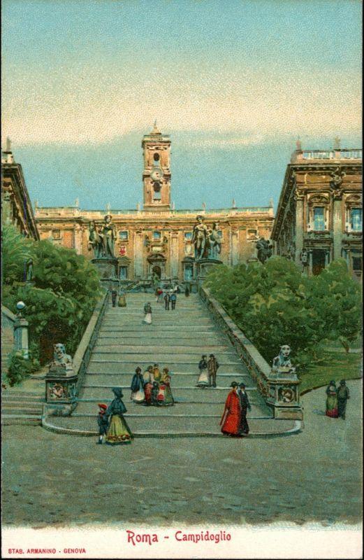 Rom Roma Campidoglio Werbekarte Loeflund Stuttgart Grunbach 1912