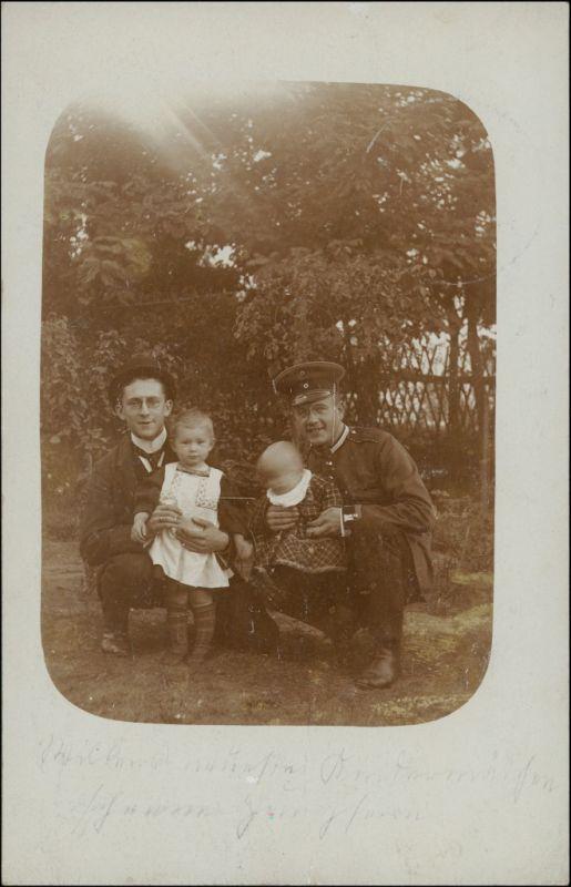 Tauer-Peitz Picnjo Kinder, Mann Soldat gel. Tauer Bz Frankfurt 1916