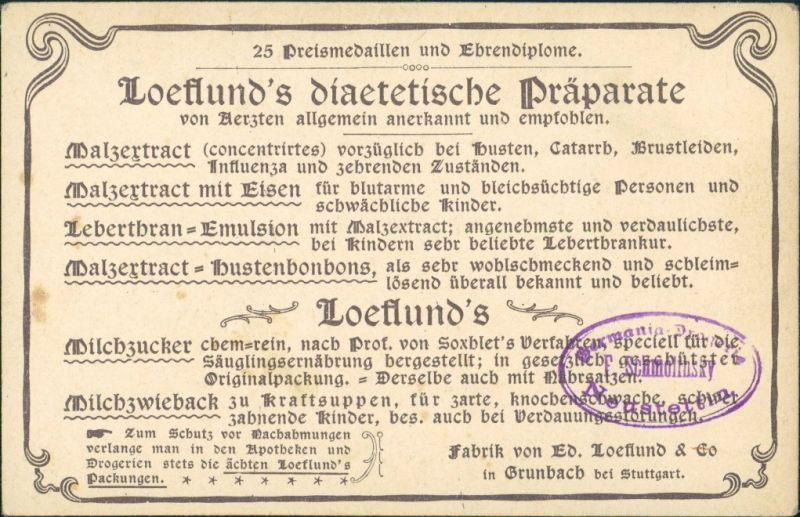 Venedig Venezia Il Molo Werbekarte Loeflund Stuttgart Grunbach 1912 1