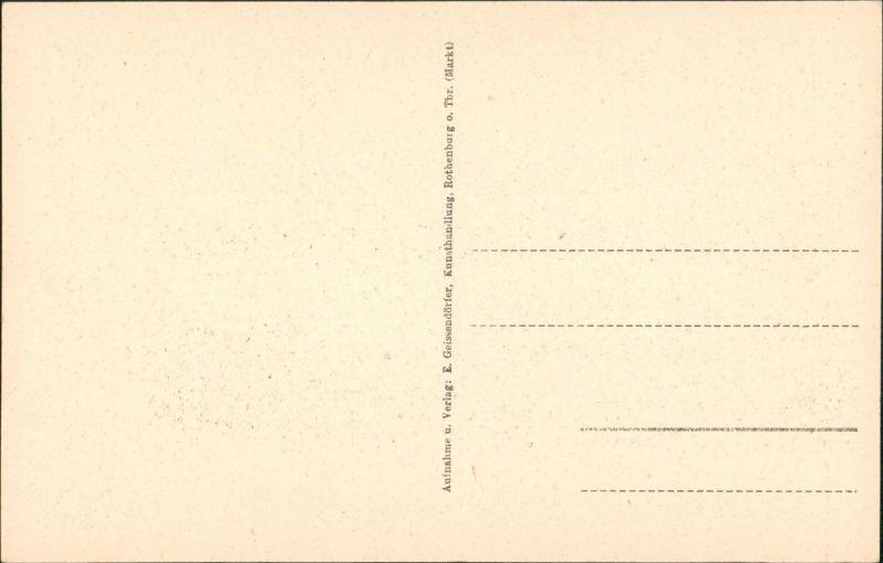 Rothenburg ob der Tauber Weißer Turm, Strassen Partie, Fachwerkhaus, Tor-Bogen 1920 1