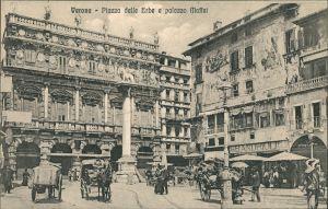 Verona Verona Piazza delle Erbe Palazzo Massel Kutsche Fuhrwerk Erbeplatz 1905